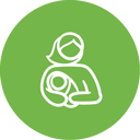 nannying agency logo abstract woman holding baby