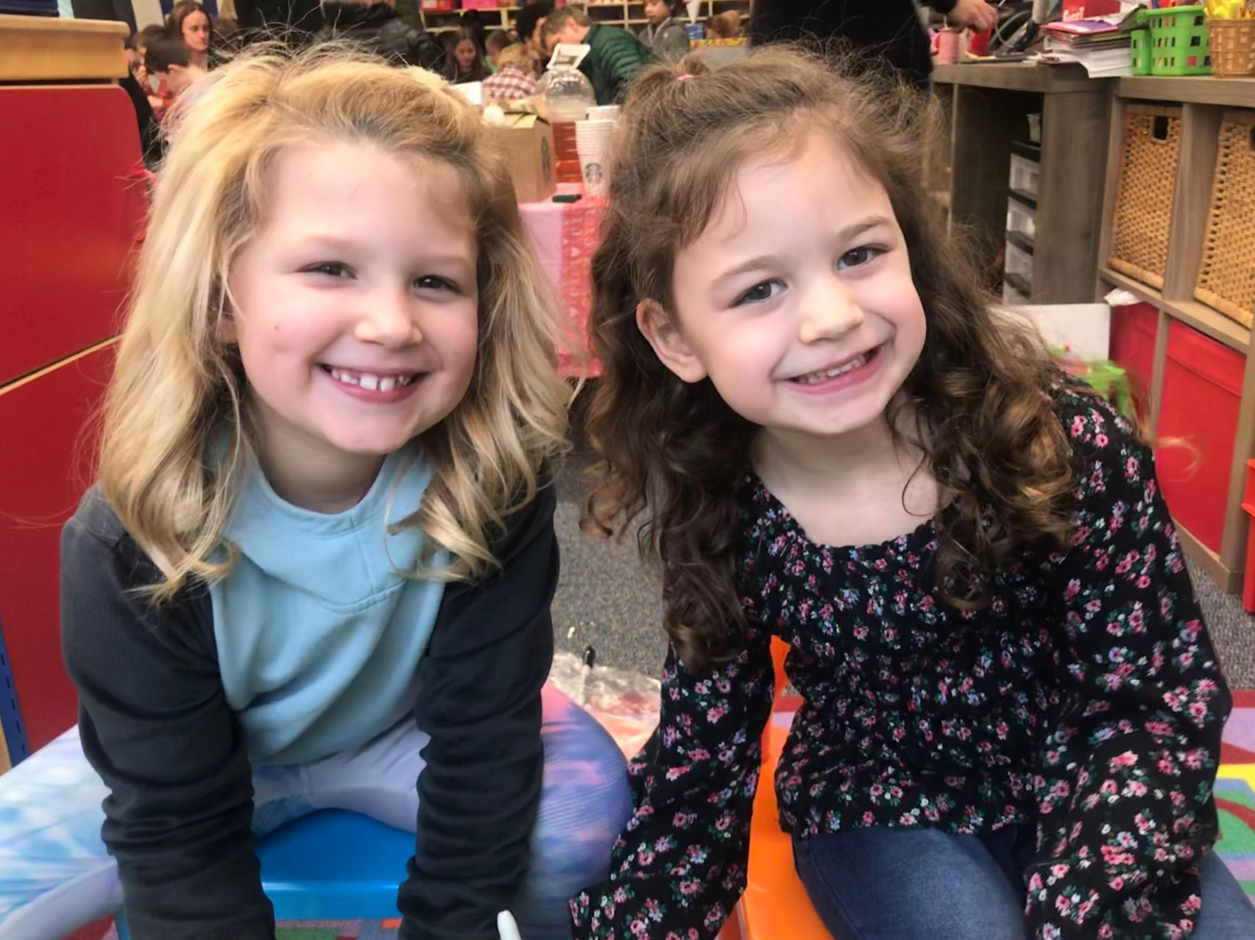 two young girls smiling in need of a Professional Nanny